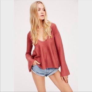 Free People Sundae Pullover Sweater Bell Sleeves